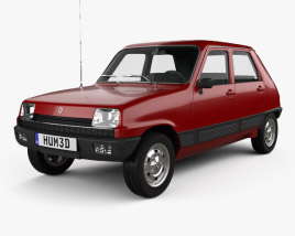 3D model of Renault 5 5-door 1972