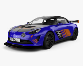 3D model of Renault Alpine A110 GT4 2017