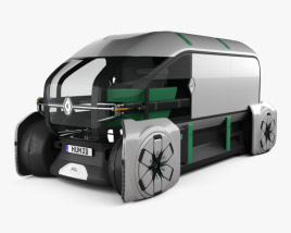 3D model of Renault EZ-PRO 2018