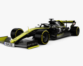 3D model of Renault R.S.19 F1 2019