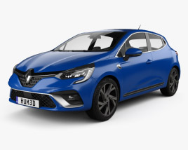 3D model of Renault Clio RS-Line hatchback 2019