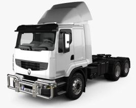 3D model of Renault Premium Lander Tractor Truck 3-axle 2006