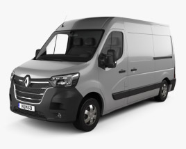 3D model of Renault Master L2H2 Panel Van 2019