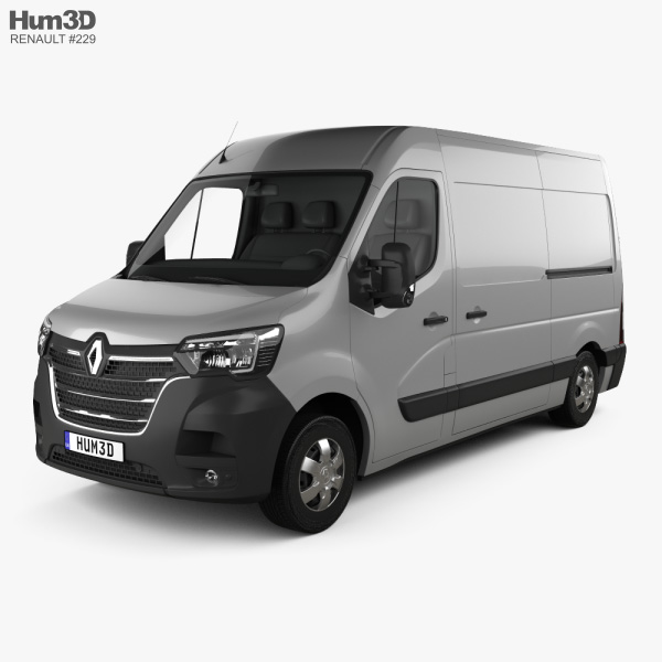 3D model of Renault Master L2H2 Panel Van 2019