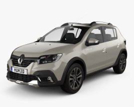 3D model of Renault Sandero Stepway Latam-spec 2019