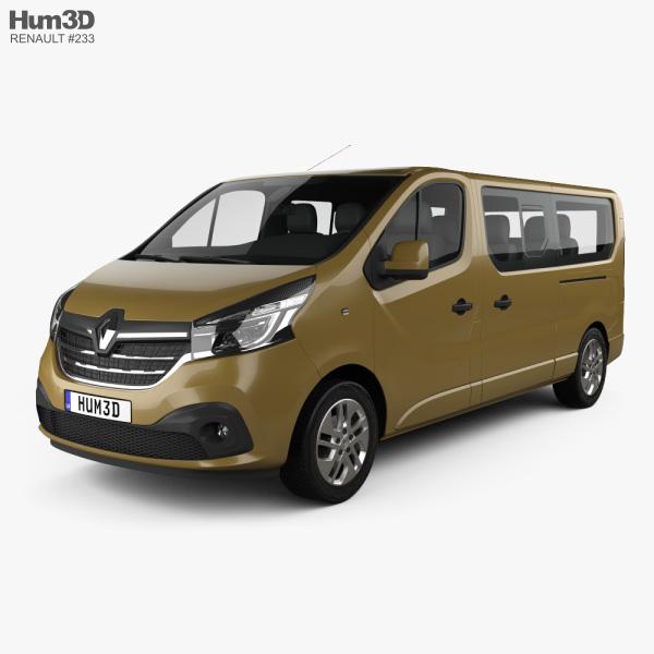 3D model of Renault Trafic Passenger Van LWB 2020