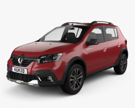 3D model of Renault Sandero Stepway City CIS-spec 2018