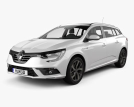 3D model of Renault Megane estate 2016