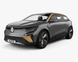 3D model of Renault Megane eVision 2020