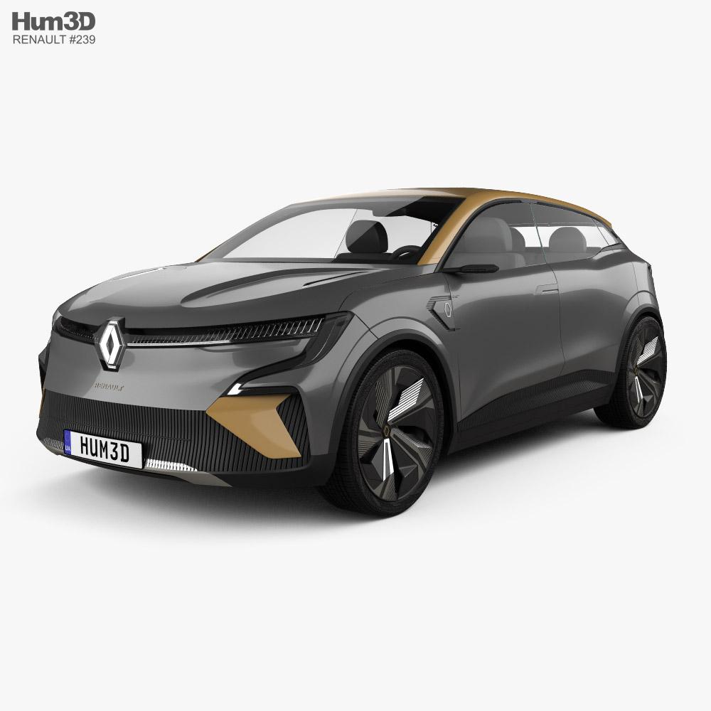 3D model of Renault Megane eVision 2020