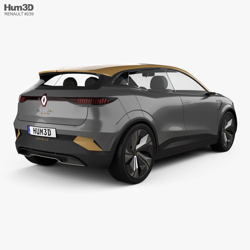Renault Megane eVision 2020 3d model back view