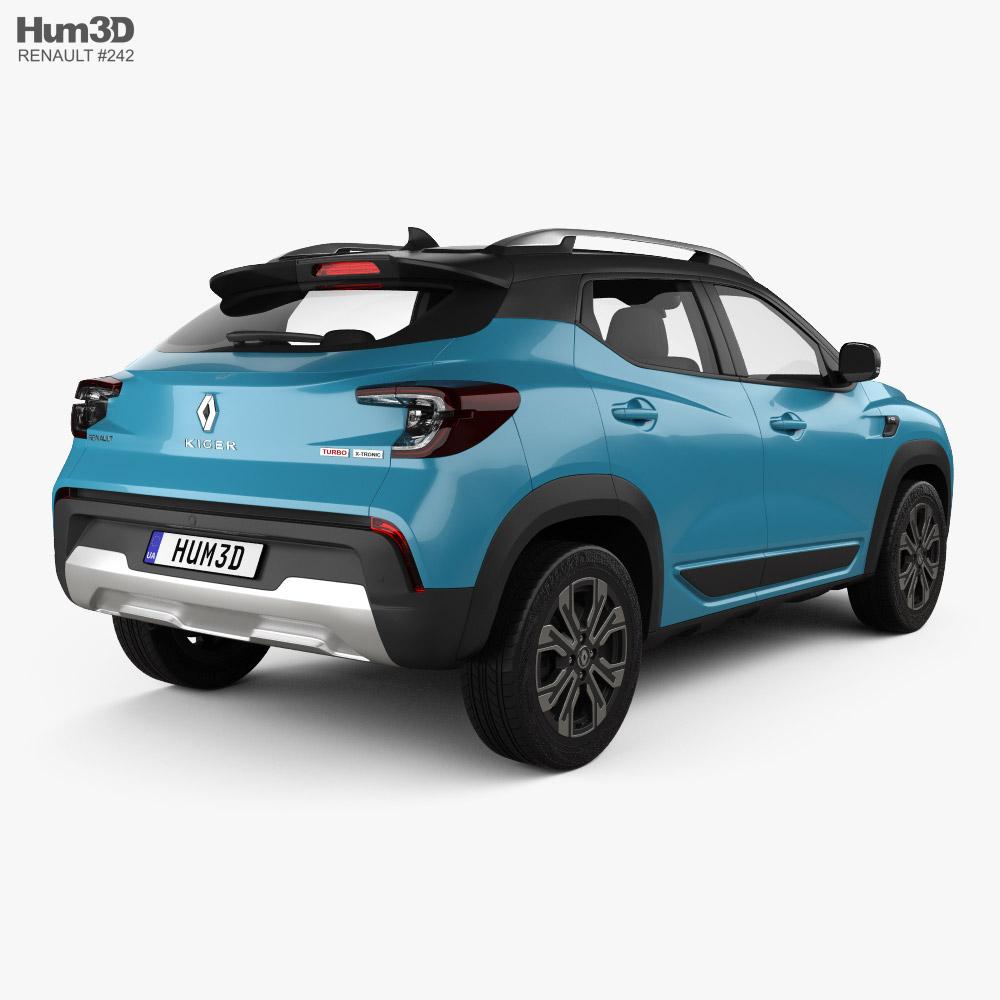 Renault Kiger 2021 3d model back view
