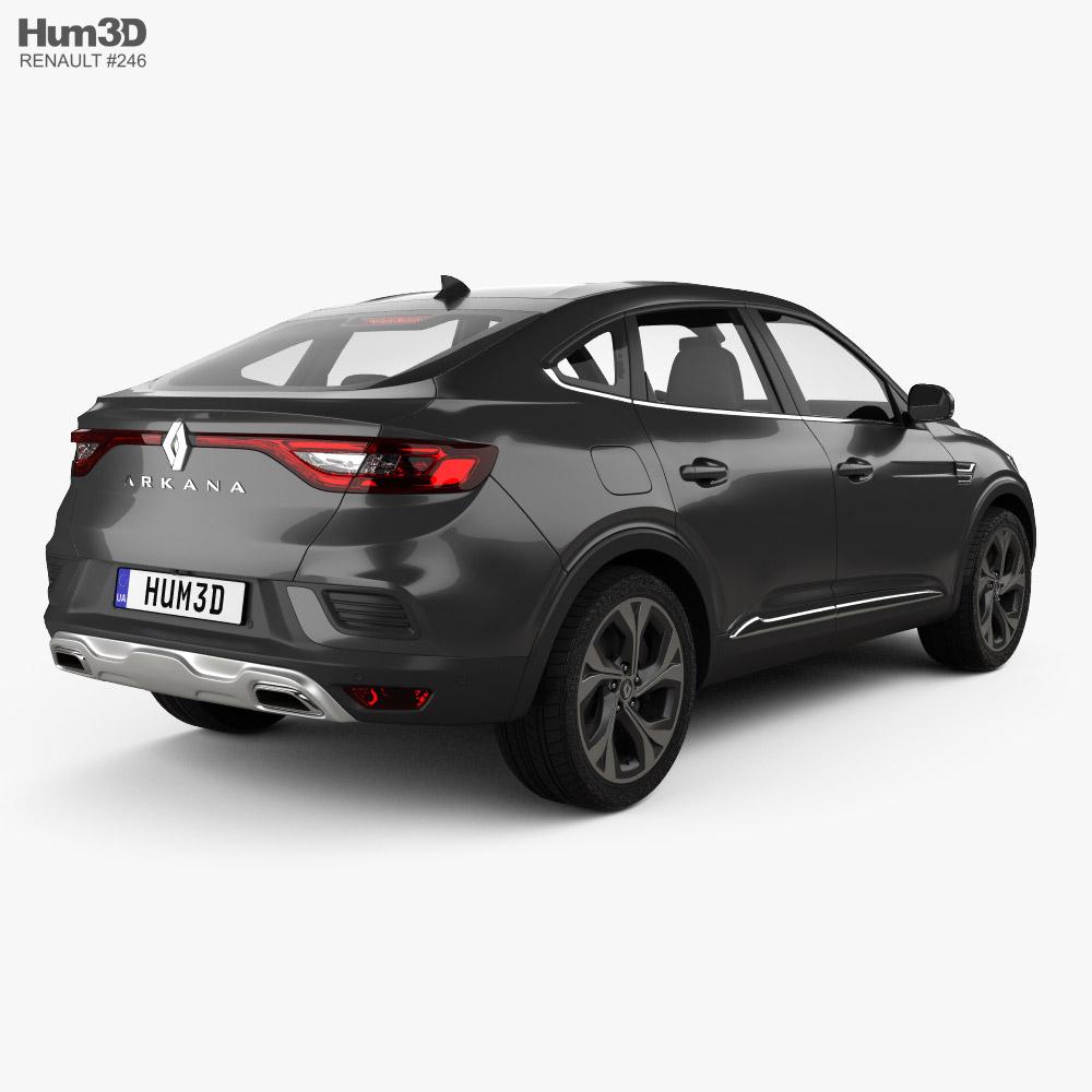 Renault Arkana RS-Line 2022 3D模型 后视图