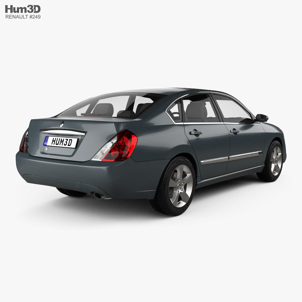 Renault Safrane 2007 3d model back view