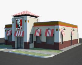 3D model of KFC Restaurant 01
