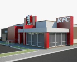 3D model of KFC Restaurant 02
