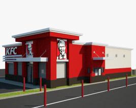 3D model of KFC Restaurant 03
