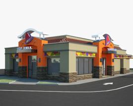 3D model of Taco Bell Restaurant 02