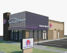 3D model of Taco Bell Restaurant 03