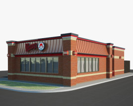 3D model of Wendy's Restaurant 01