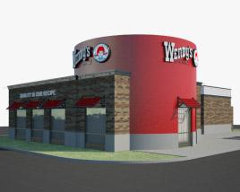 3D model of Wendy's Restaurant 02