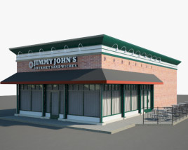 3D model of Jimmy John's Restaurant 01