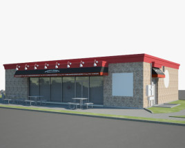 3D model of Jimmy John's Restaurant 03