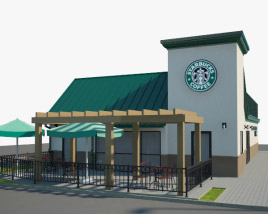 3D model of Starbucks Restaurant 03