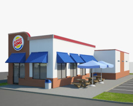 3D model of Burger King Restaurant 01