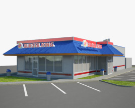 3D model of Burger King Restaurant 02
