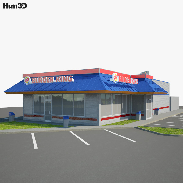 Burger King Restaurant 02 3D model
