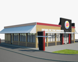 3D model of Burger King Restaurant 03