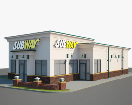 3D model of Subway Restaurant 01