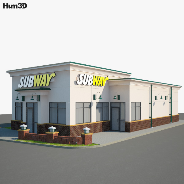 Subway Restaurant 01 3D model