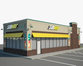 3D model of Subway Restaurant 02