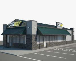 3D model of Subway Restaurant 03