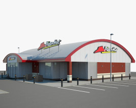 3D model of Pizza Hut Restaurant 01