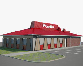 3D model of Pizza Hut Restaurant 02