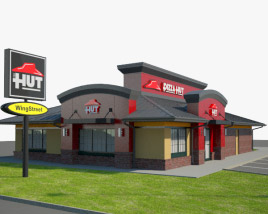 3D model of Pizza Hut Restaurant 03