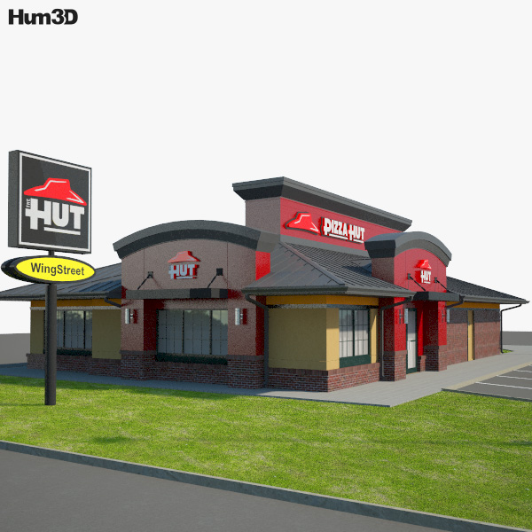 Pizza Hut Restaurant 03 3D model