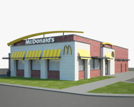 3D model of McDonald's Restaurant 02