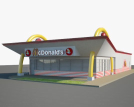 3D model of McDonald's Restaurant 04