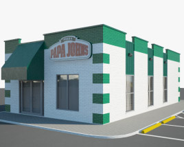 3D model of Papa John's Pizza Restaurant 02