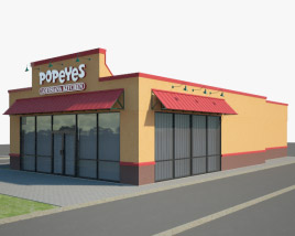 3D model of Popeyes Luisiana Kitchen 01