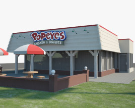 3D model of Popeyes Luisiana Kitchen 03