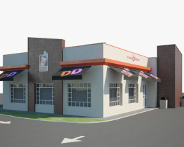 3D model of Dunkin' Donuts Restaurant 01