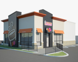 3D model of Dunkin' Donuts Restaurant 02