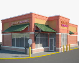 3D model of Dunkin' Donuts Restaurant 03