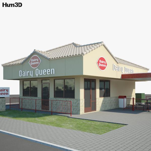 Dairy Queen Restaurant 01 3D model