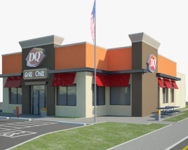 3D model of Dairy Queen Restaurant 02